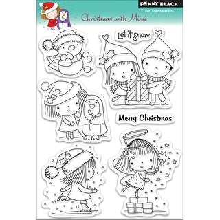 """Penny Black Clear Stamps 5""""X7""""-Christmas W/Mimi"""