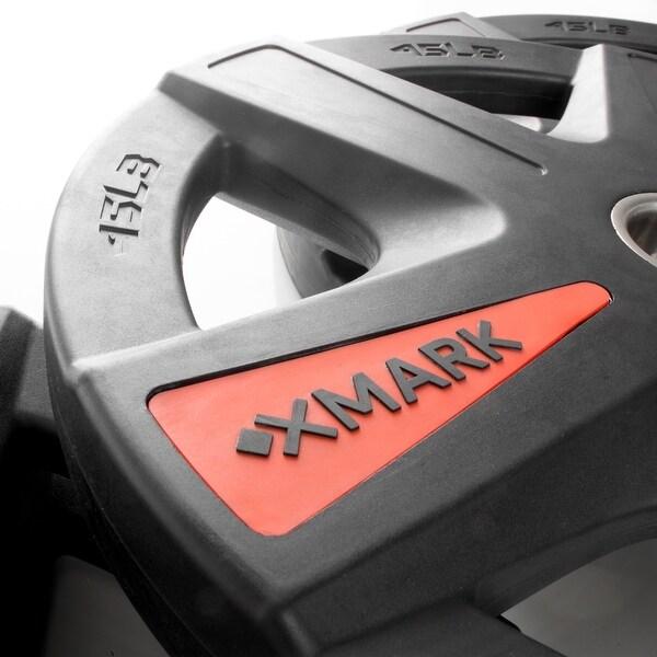 XMark XM-36701-BLACK-3377-BAL-95 Olympic Curl Bar Set With 95 lb Olympic Plates