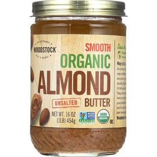 Woodstock Farms - Organic Unsalted Smooth Almond Butter ( 12 - 16 OZ)