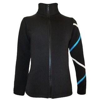 Ice Fire Skate Wear Black Jacket Turquoise Criss Cross Girl 4-Women L