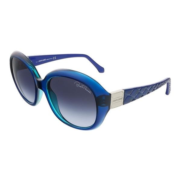 Roberto Cavalli RC786S/S 92W Parliament Blue Oval sunglasses - parliament blue