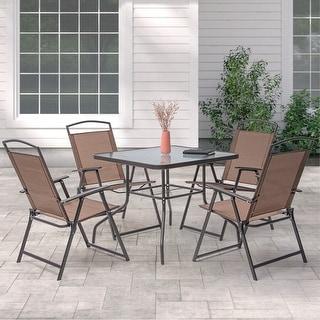 Shop Lido 7-Piece Outdoor Patio Dining Set - Overstock ... on Safavieh Outdoor Living Horus Dining Set id=24352