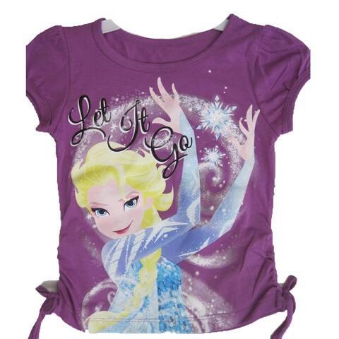 Disney Little Girls Purple Elsa Frozen Character Graphic Print T-Shirt 4-6X