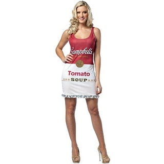 Rasta Imposta Campbells Tomato Soup Can Tank Dress Adult Costume - Solid - one-size