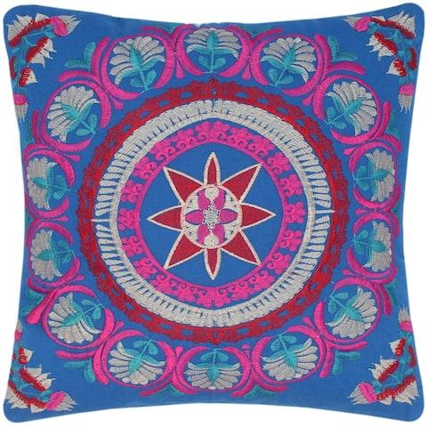 Embroidered Bohemian Hazel Cotton Pillow