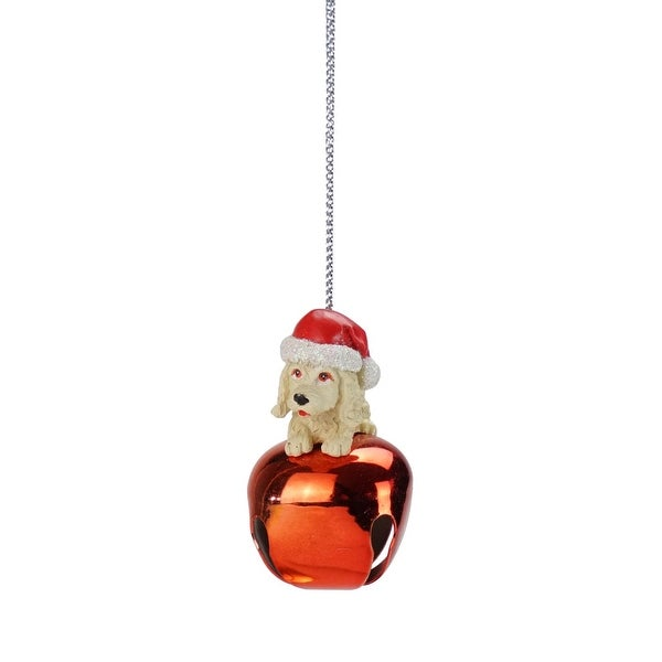 "2.25"" Laying Yellow Lab Jingle Buddies Christmas Ornament"