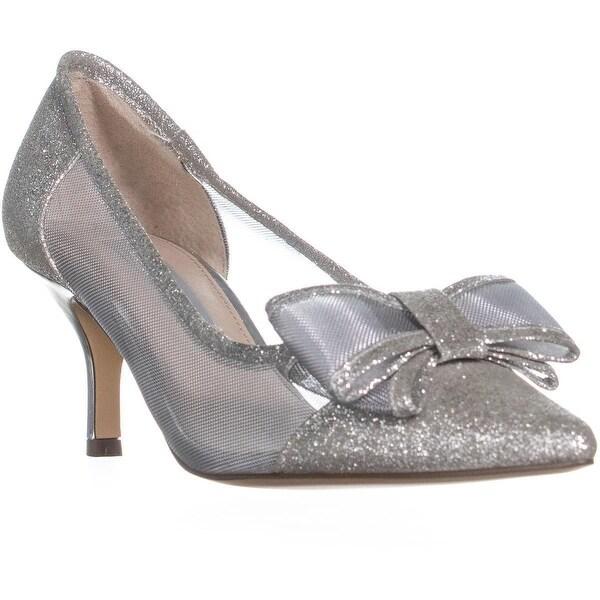 4625e1ff34 Shop Nina Bianca Mesh Pointed Toe Kitten Heels, White Diamond - Free ...