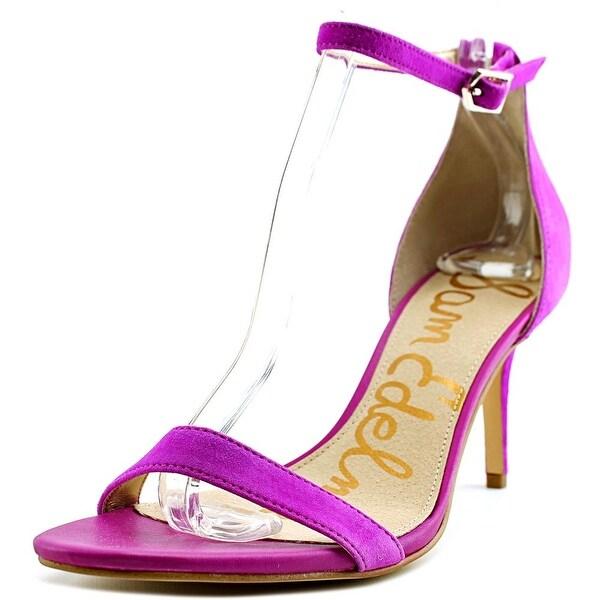 efa69de978f Shop Sam Edelman Patti Women Open Toe Suede Pink Sandals - Free ...