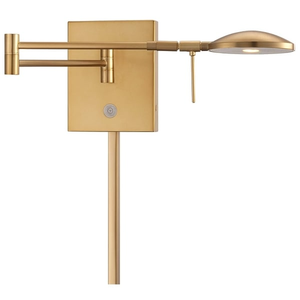 """Kovacs P4338-248 1 Light 6.25"""" Height ADA Compliant LED Plug In Wall Sconce in Honey Gold with Dome Shade from the George's"""