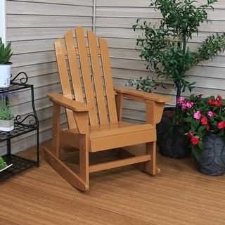 Sunnydaze Classic Wooden Adirondack Rocking Chair with Cedar Finish - 1
