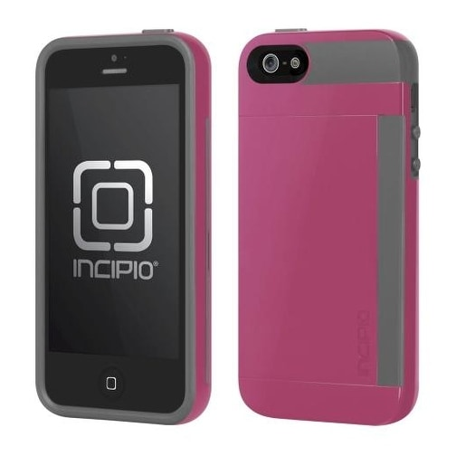Incipio Stowaway Case for Apple iPhone 5 - Pink/Gray (IPH-855)