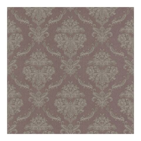 Westminster Mauve Damask Wallpaper - 20.5in x 396in x 0.025in