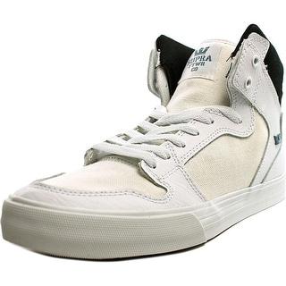 Supra Vaider  Men  Round Toe Leather White Skate Shoe