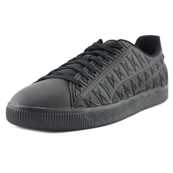 Puma Clyde 3D X Ray V2 FM Men Round Toe Synthetic Black Sneakers