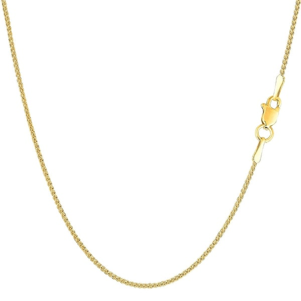 Mcs Jewelry Inc  14 KARAT YELLOW GOLD LIGHT WEIGHT WHEAT CHAIN NECKLACE (2.8MM)