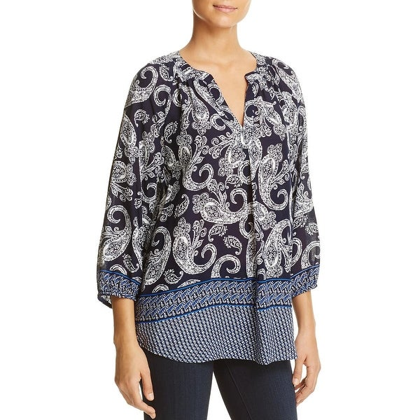 Beach Lunch Lounge Womens Ariel Blouse Printed 3/4 Sleeves