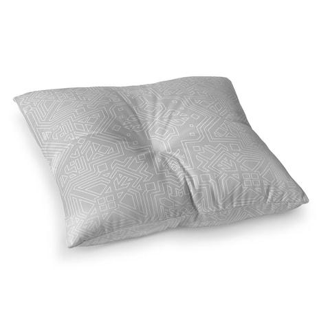 SULTANATE LIGHT GREY Floor Pillow by Kavka Designs