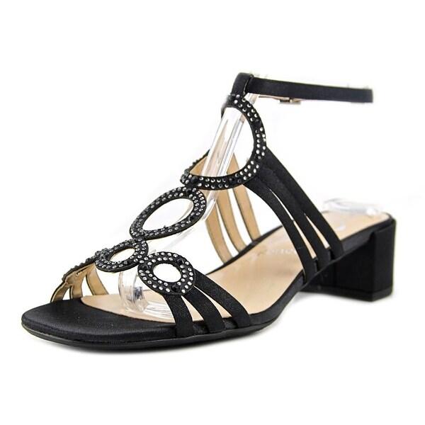 J. Renee Terri Women Black/Glimmer Sandals