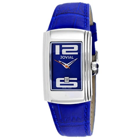 Jovial Women's Classic Blue Dial Watch - 08007-LSL-03 - One Size