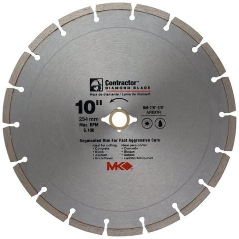 "MK Diamond 167017 Contractor Segmented Rim Diamond Blade, 10"""