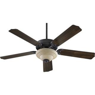 "Quorum International 77525-9444 Capri 5 Blade 52"" Ceiling Fan - Blades and Light Kit Included"