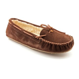 Minnetonka Cally Women Suede Brown Moccasin Slippers Shoes