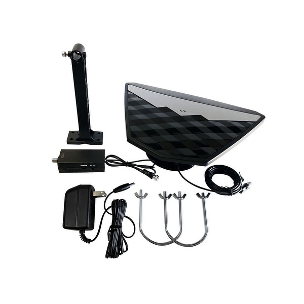 Monoprice Active Indoor/Outdoor HD6 HDTV Antenna, 50 Mile Range