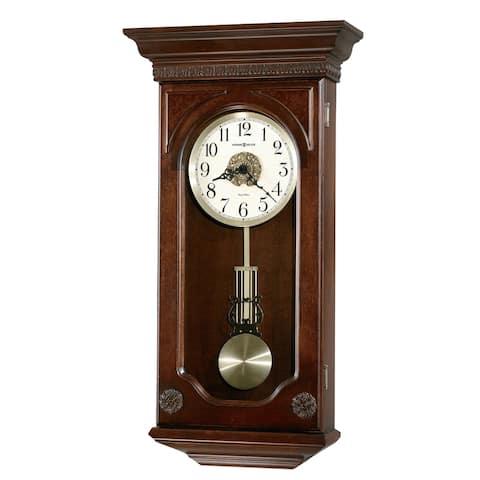 Howard Miller Jasmine Chiming Wall Clock with Pendulum