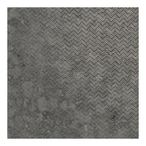 Luna Charcoal Distressed Chevron Wallpaper - 27.5 x 396 x 0.025