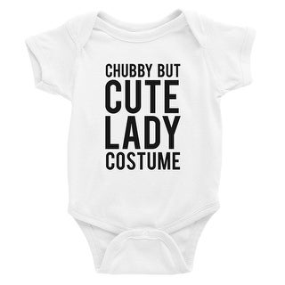Chubby But Cute Lady Costume Baby Bodysuit Gift White
