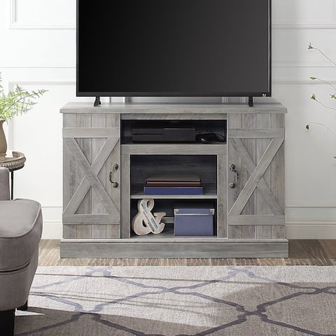 """BELLEZE 47"""" Freestanding Media Console Television Stand, Grey Wash - standard"""