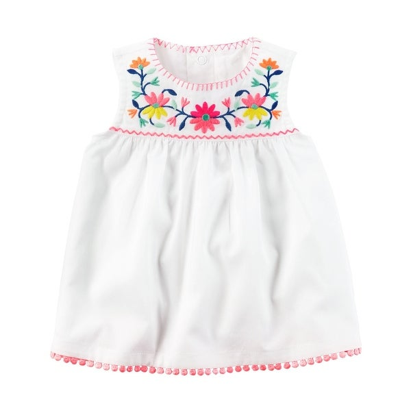 bb1f927fbf246 Carter's Baby Girls' Embroidered Top, 18 Months