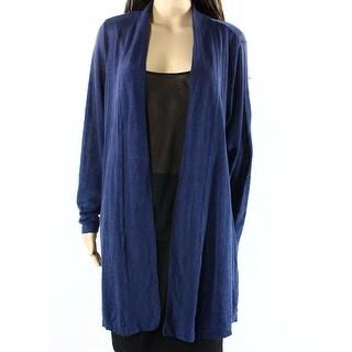 Alfani NEW Blue Womens Size XL Open-Front Long-Sleeve Cardigan Sweater