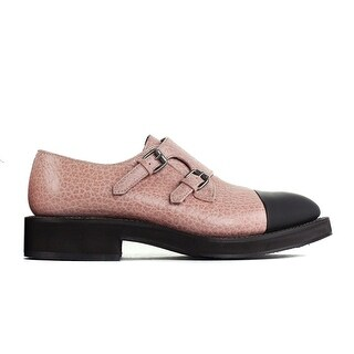 Brunello Cucinelli Pink Pebbled Leather Monk Strap Loafers