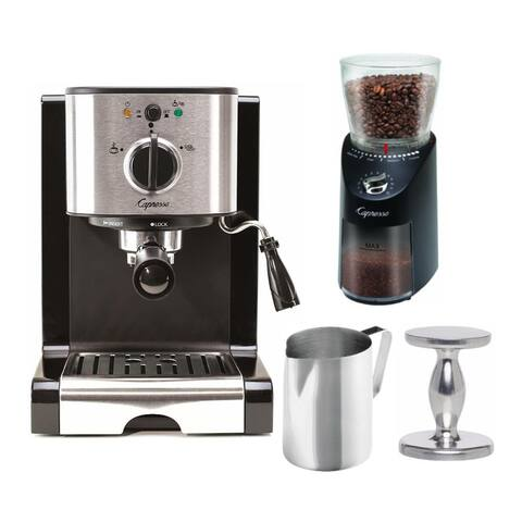 Capresso EC100 Pump Espresso Machine with Coffee Grinder Bundle