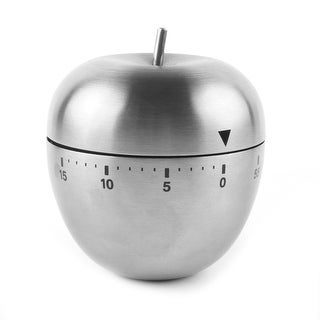 """Home Kitchen Cooking Apple Shaped Mechanical Alarm Timer 60 Minutes - 2.5"""" x 2.5""""(D*H)"""