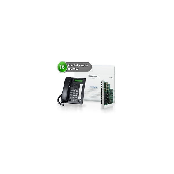 Panasonic KX-TA824-7730-6CO 16 Pack KX-TA824 Phone System KX-TA82483 Exp Card KX-T7730 Corded Phones