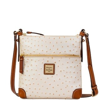 Dooney & Bourke Ostrich Letter Carrier (Introduced by Dooney & Bourke at $188 in Mar 2016) - Pearl