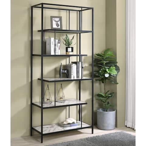Furniture of America Kressly Contemporary White Metal 5-Shelf Bookcase