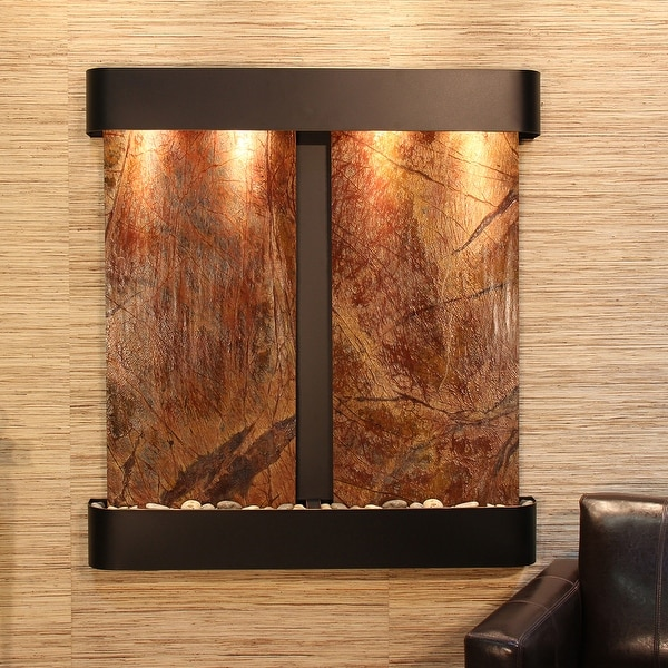 Adagio Aspen Falls Fountain with Blackened Copper Finish and Rounded Edges - Multiple Colors Available