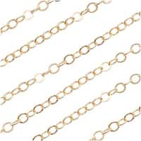 14/20 Gold Filled Delicate Cable Chain 1.2mm Bulk By The Foot