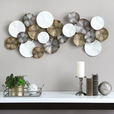 Stratton Home Decor 3-color Modern Metal Wall Decor