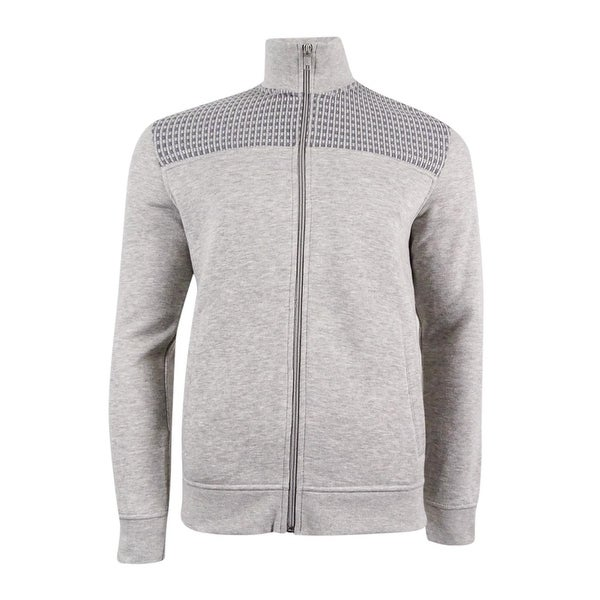 b15ada4addf7ed Shop Alfani Men's Mock Collar Full-Zip Sweater-Jacket (M, Night Mist  Heather) - Night Mist Heather - M - On Sale - Free Shipping On Orders Over  $45 ...