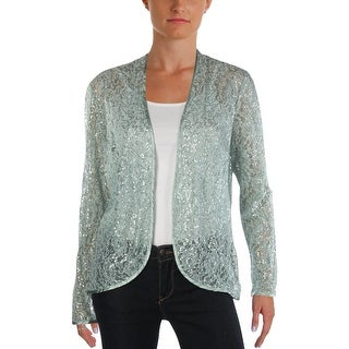 SLNY Womens Cardigan Top Lace Sequined