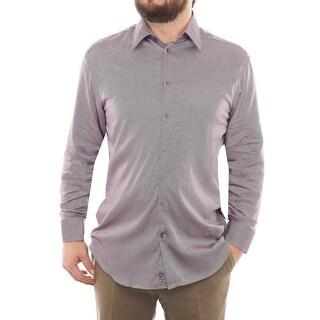 Armani Collezioni Long Sleeve Collared Button Down Men Dress Button