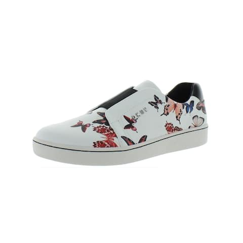DKNY Womens Bobbi Slip-On Sneakers Leather Butterfly Print
