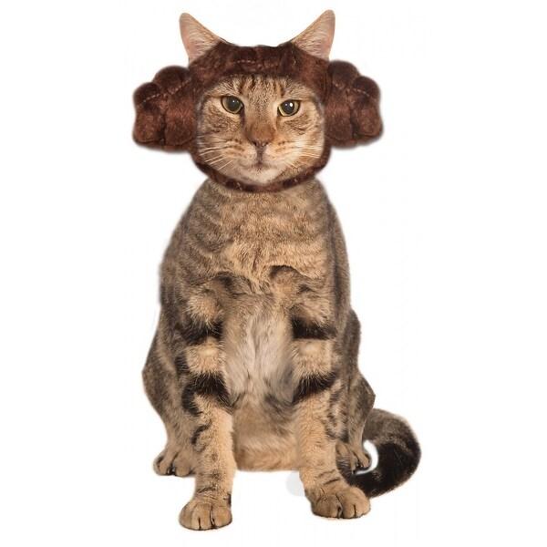 Princess Leia Cat Buns Pet Pet Costume