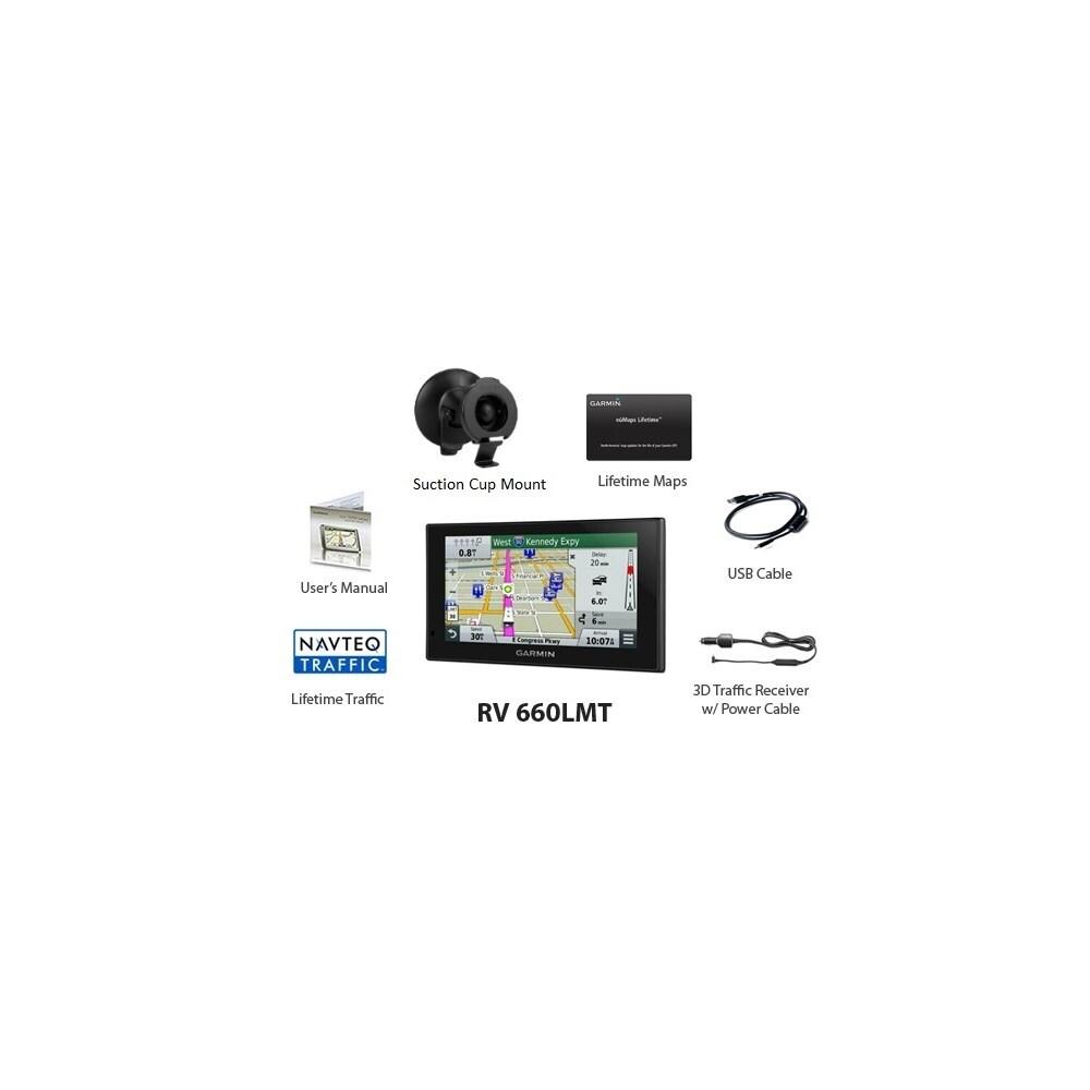 Garmin RV 660LMT GPS Vehicle Navigation System 010-01535-00 w/ Free  Lifetime Map Updates