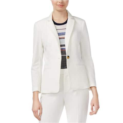 Rachel Roy Womens Professional One Button Blazer Jacket