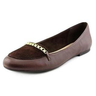 Bella Vita Thora Women N/S Round Toe Leather Brown Flats